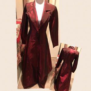 Vintage Satin Long Coat